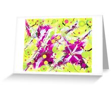 Pink Flower Explosion Greeting Card