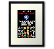 Life is a Mistery Box (of Mario Kart) A Framed Print