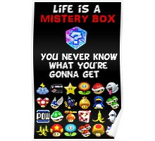 Life is a Mistery Box (of Mario Kart) A Poster
