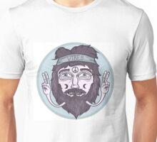 Hippie guy Unisex T-Shirt