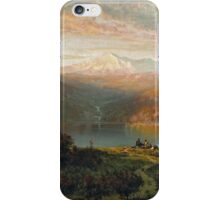Thomas Hill - Indian by a lake in a majestic California landscape iPhone Case/Skin