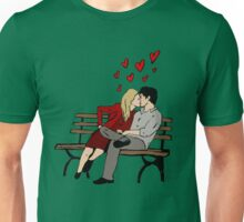Kissing on chair Unisex T-Shirt