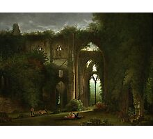 Sketching the Ruins of Tintern Abbey by Samuel Colman. Photographic Print