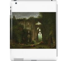 Sketching the Ruins of Tintern Abbey by Samuel Colman. iPad Case/Skin