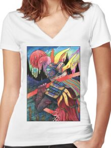 El huervo samurai 2 Women's Fitted V-Neck T-Shirt