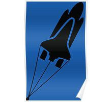 Silhouette Space Shuttle Launch Poster
