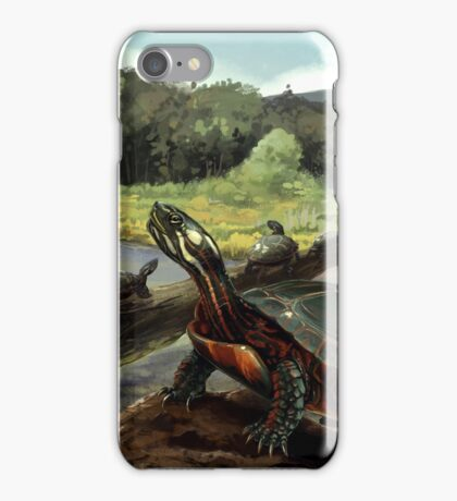 Painted Turtle - WITHOUT Text iPhone Case/Skin