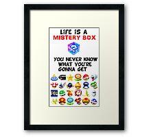 Life is a Mistery Box (of Mario Kart) B Framed Print