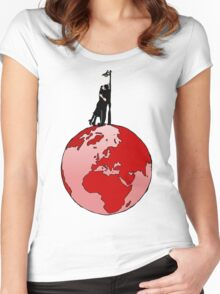 World kissing Women's Fitted Scoop T-Shirt