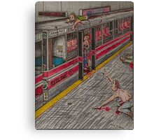 Zombies on the Red Line Canvas Print