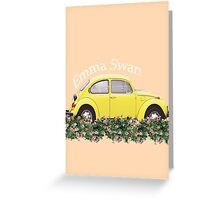 Emma Swan ~ Yellow Bug Greeting Card