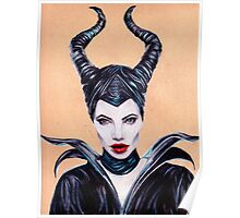 Maleficent Coloured Pencil Drawing Poster