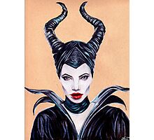 Maleficent Coloured Pencil Drawing Photographic Print