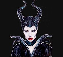 Maleficent Coloured Pencil Drawing Womens Fitted T-Shirt