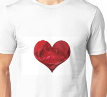 Rose Heart with Love Unisex T-Shirt