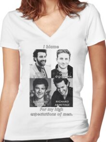 High Expectations of Men Women's Fitted V-Neck T-Shirt