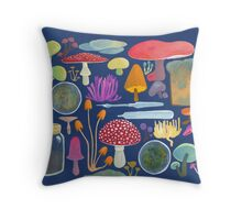 Mycology Throw Pillow