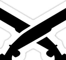 Crossed trap shooting shotguns Sticker