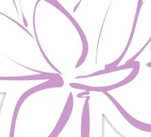 Lotus Flower Calligraphy (Lavender) Sticker