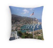 Catalina island Throw Pillow