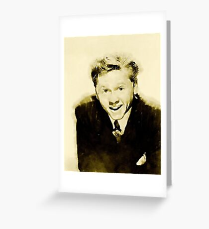 Mickey Rooney by John Springfield Greeting Card