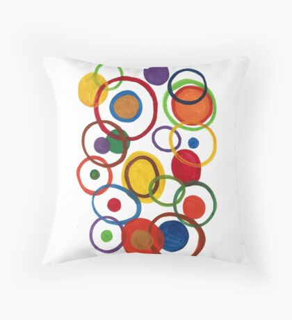 Rings of happiness  Throw Pillow