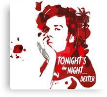 Dexter-blood Canvas Print