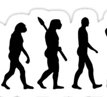 Evolution trap shooting Sticker