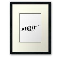 Evolution trap shooting Framed Print