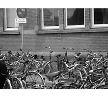 Bicycles at the Station Photographic Print
