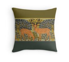Stags and Does by Maurice Pillard Verneuil Throw Pillow