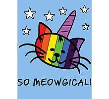 Unicorn Cat UniKitty So Meowgical T Shirt Photographic Print