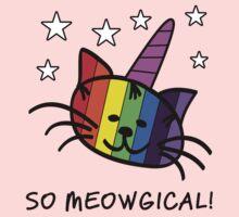 Unicorn Cat UniKitty So Meowgical T Shirt Baby Tee