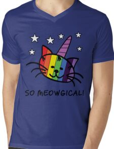 Unicorn Cat UniKitty So Meowgical T Shirt Mens V-Neck T-Shirt