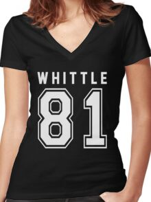 WHITTLE 81 Women's Fitted V-Neck T-Shirt