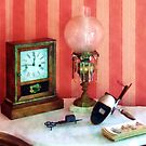 Stereopticon, Lamp and Clock by Susan Savad