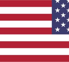 US Flag Reverse Sticker