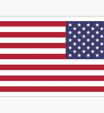 US Flag Reverse Sticker