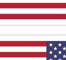 USA Flag Reverse Sticker