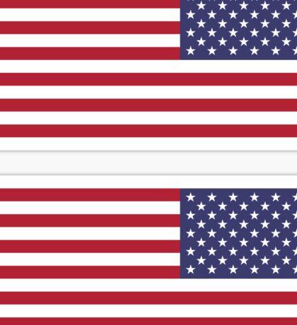 USA Flag Reverse Sticker