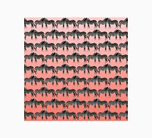 Cute Funny Zebra Pattern on Coral Gradient Classic T-Shirt