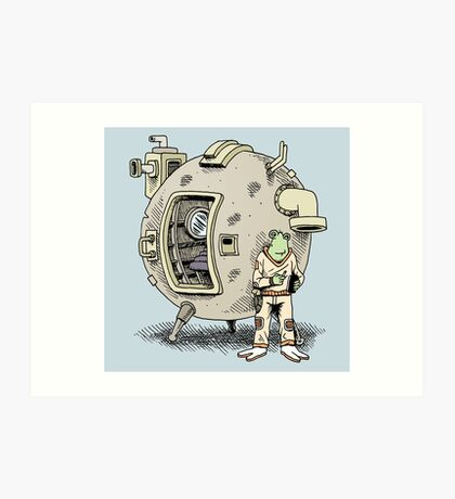 Smoke break on another world Art Print
