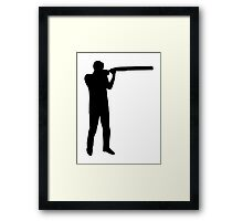 Trap shooting Framed Print