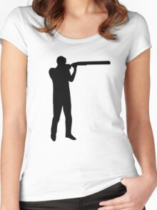 Trap shooting Women's Fitted Scoop T-Shirt