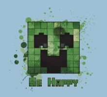 Minecraft - Be Happy One Piece - Short Sleeve