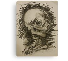 Charcoal Skeleton Canvas Print