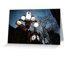 Water Street Steam Clock Greeting Card