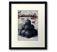 Cannon Balls Framed Print