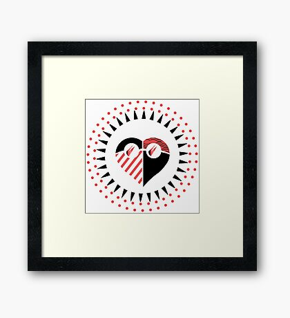 Love is Radically Blind (Black/Red Ver.) Framed Print
