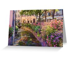 Summer in Colmar, Alsace, France Greeting Card